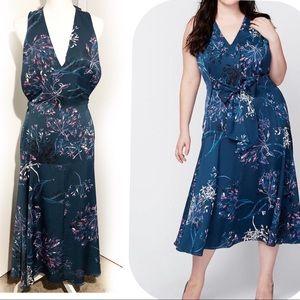 RACHEL ROY Indigo Blue/Hot pink dress